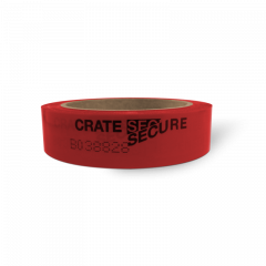 Roll of Red Crate Secure Security Tape