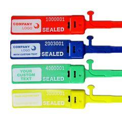 Custom Heavy Duty Plastic Security Seal, Colored