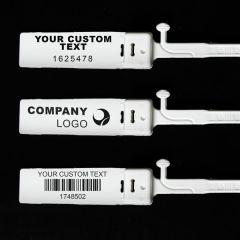 Custom Heavy Duty Plastic Security Seal, White