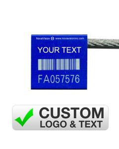 Custom Blue Cable Seal